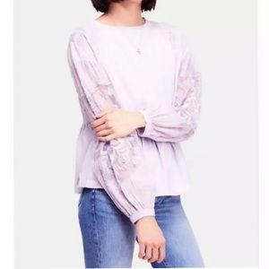 Free People Penny Tee Lilac Size Small NWT